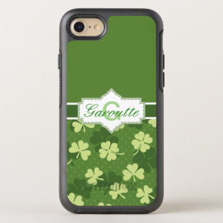 Personalised Green Shamrock St Patricks OtterBox Symmetry iPhone 8/7 Case