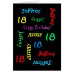 Personalised Greeting Card, 18th Birthday