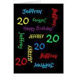 Personalised Greeting Card, 20th Birthday