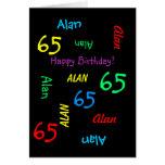 Personalised Greeting Card, 65th Birthday