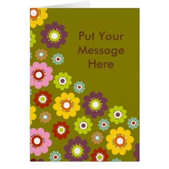 Personalised Greeting Cards - Flowers