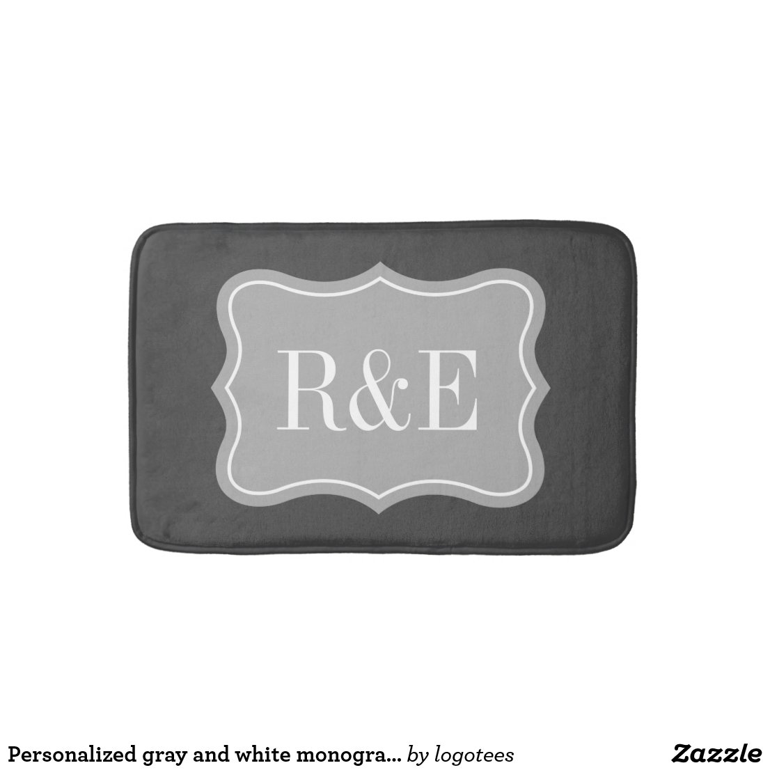 Personalised Monogram Bath Mat