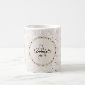Personalised Grey White Coffee Mug