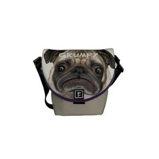 Personalised Grumpy Puggy Messenger Bag