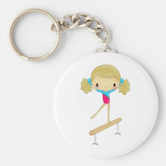 Personalised Gymnastics gifts and accessories Key Ring