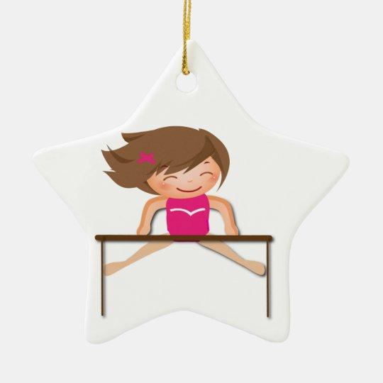 Personalised GYMNASTICS Girl Bars Gifts Christmas Ornament