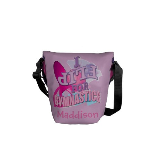 Personalised Gymnastics Messenger Bags