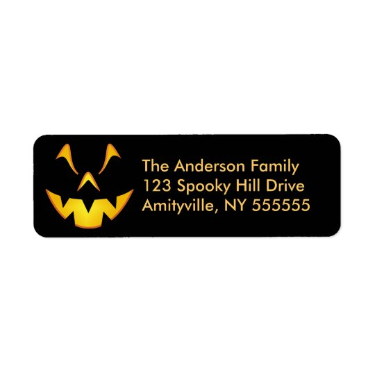 Personalised Halloween Smile Return Address Labels