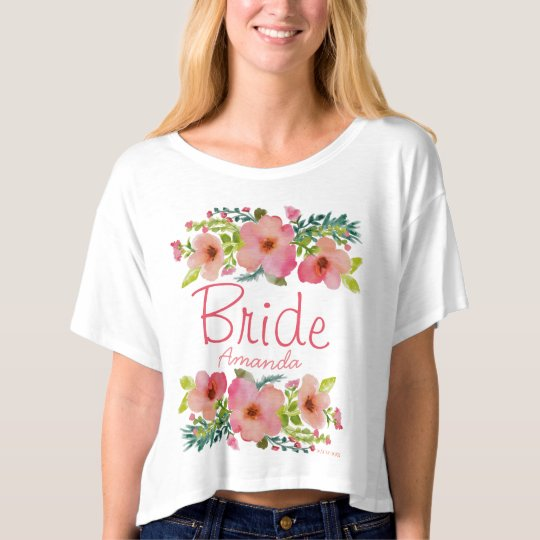 Personalised hand drawn floral T-Shirt
