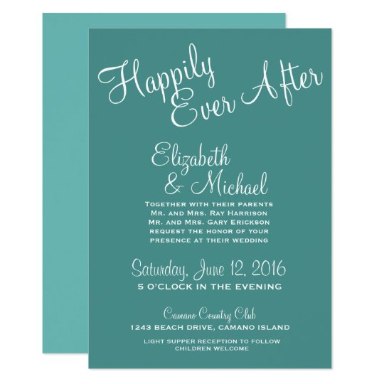 Personalised Happily Ever After Wedding Template
