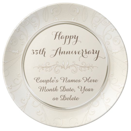Personalised Happy 35th Anniversary Gifts ANY YEAR Plate