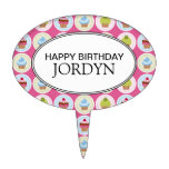 Personalised Happy Birthday Cupcakes Cake Topper