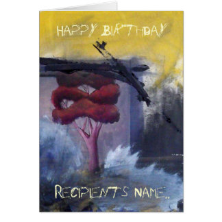 Personalised Happy Birthday Expressionist Art Card