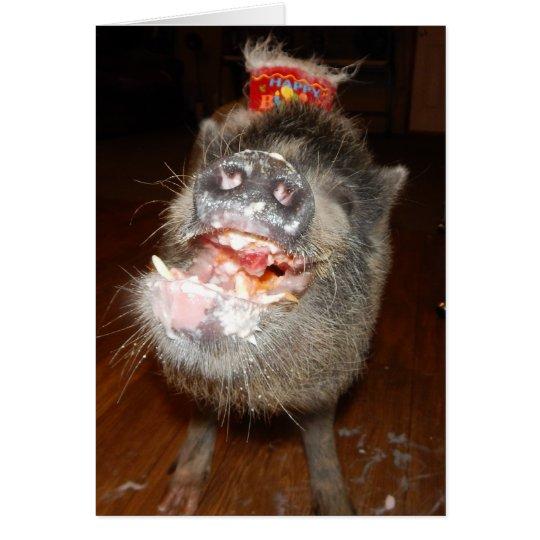 Personalised Happy Birthday Mini Pig Card