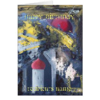 Personalised Happy Birthday Modern Art Card