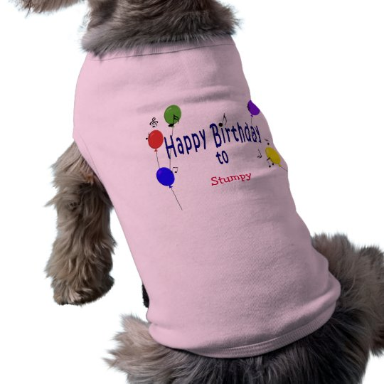 Personalised Happy Birthday to  Song Shirt