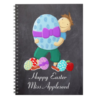 Personalised Happy Easter Teacher Notebook