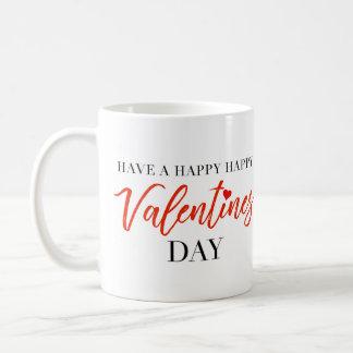 Personalised Happy Happy Valentines Day Mug