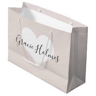 Personalised Heart Gift Bag