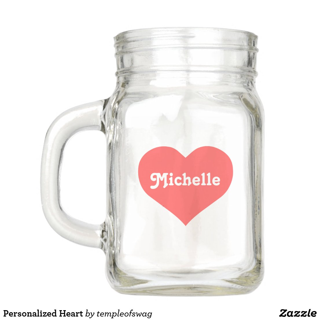 Personalised Heart Mason Jar