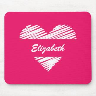 Personalised Heart Sketch Love Mousepad