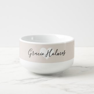 Personalised Heart Soup Mug