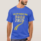 Personalised Highway Map Yellow Lines Road Trip T-Shirt