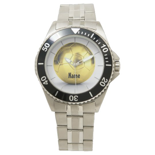 Personalised HIM Watch Gold Soccer Ball
