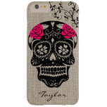 Personalised Hipster Sugar Skull Barely There iPhone 6 Plus Case