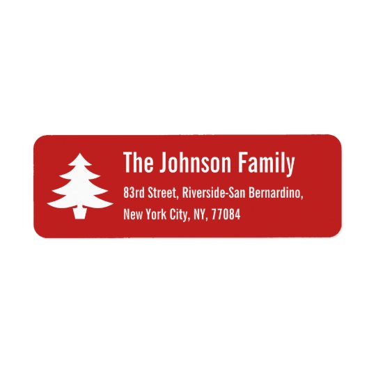 Personalised Holiday Christmas Tree Return Address