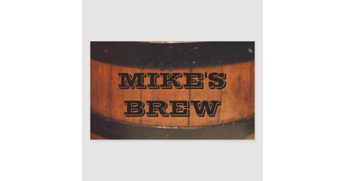 Personalised Home Brew Beer Labels Zazzle Co Uk
