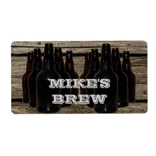 Personalised Home Brewing Beer Brewer's Labels