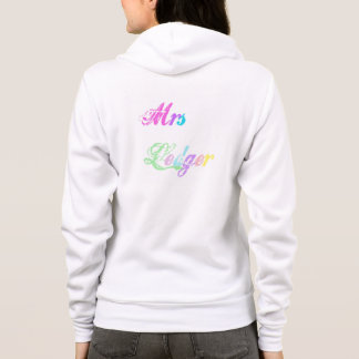 Personalised Hoodie in rainbow print