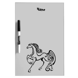 personalised horse art gifts and accessories dry erase whiteboard