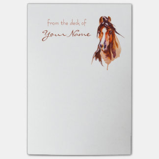 Personalised Horse Art Post-it Notes
