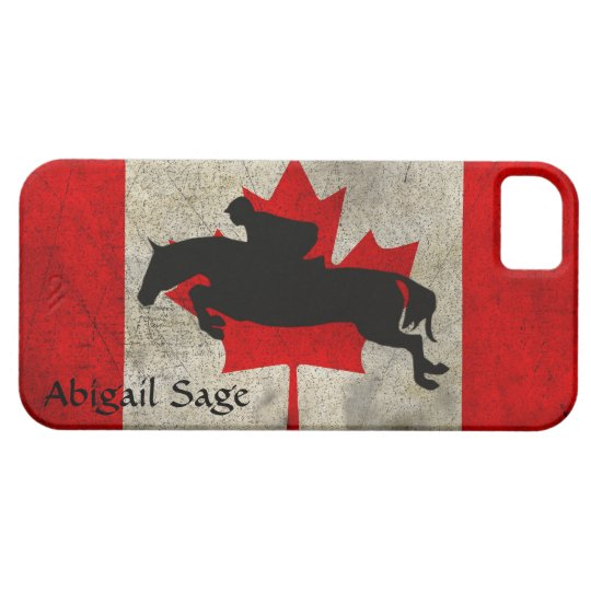 Personalised Horse Jumper Canada Flag iPhone Case
