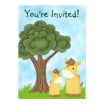 Personalised Horse Neutral Baby Shower Invitation 13cm X 18cm Invitation Card