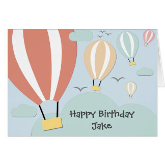 Personalised Hot Air Balloons Card