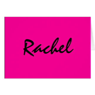 Personalised hot pink notecard
