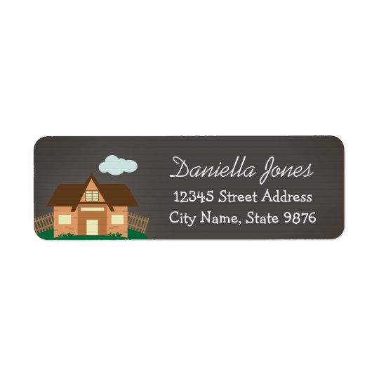 Personalised House Return Address Label
