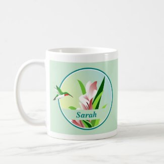 Personalised Hummingbird Mug