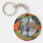 Personalised Hunter's Orange Camo Ring Photo