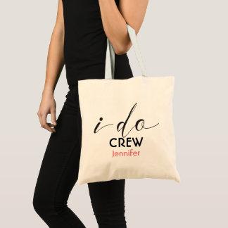 Personalised I Do Crew Bridesmaid Wedding Tote Bag