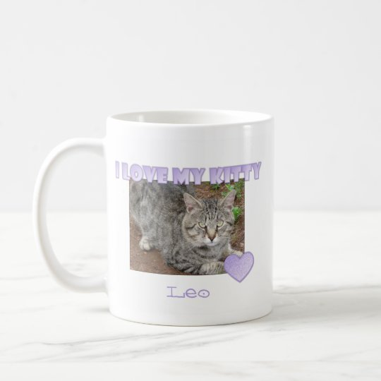 Personalised: I Love My Kitty Mug