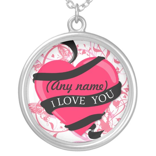 Personalised I Love You (any name) Silver Plated Necklace