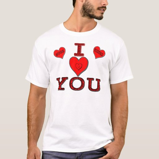 Personalised I Love You Hearts T-Shirt