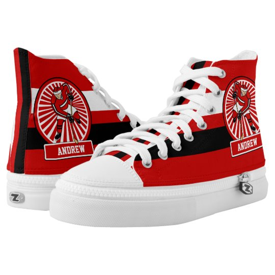 Personalised Ice Hockey player High Tops