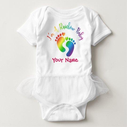 Personalised I'm A Rainbow Baby Tutu Bodysuit