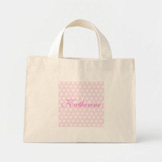 Personalised initial K girls name hearts custom Bags