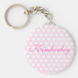 Personalised initial K girls name hearts keychain